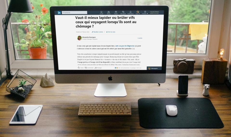 Article LinkedIn sur le chômage