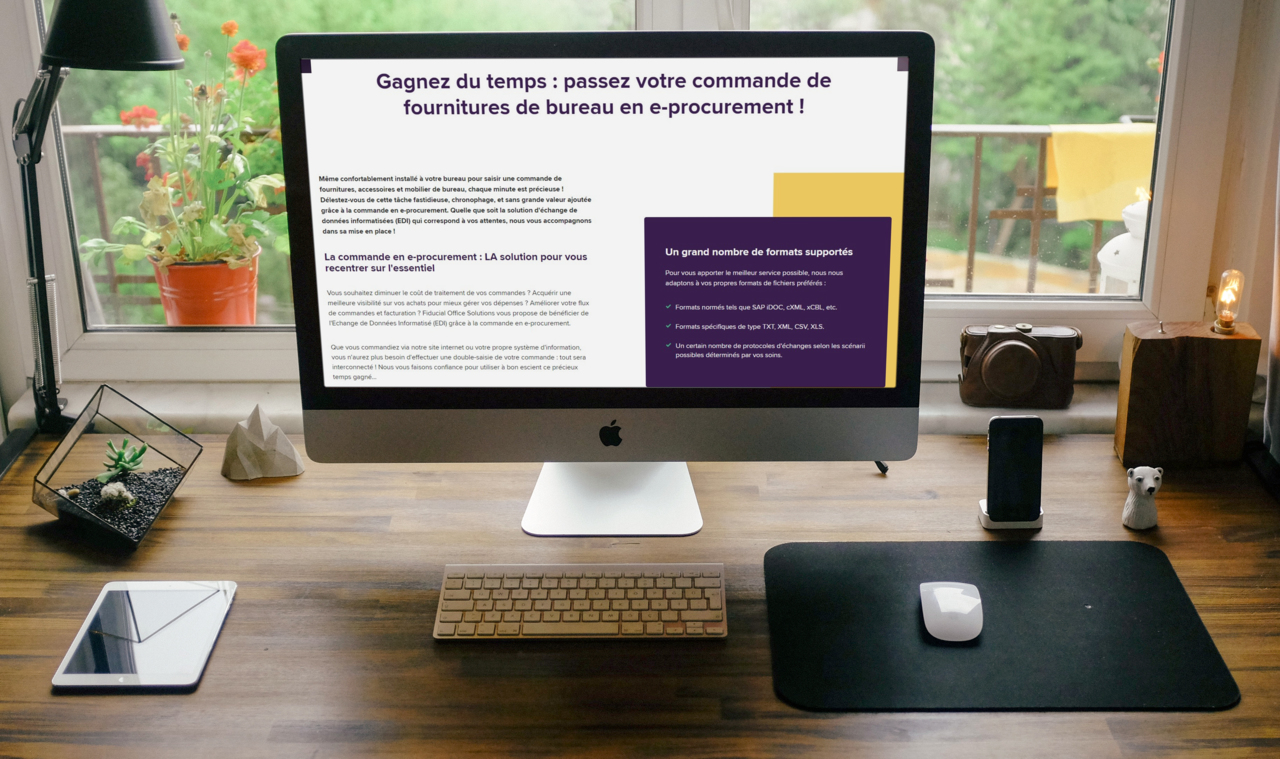 Exemple de page Fiducial Office Solutions